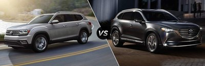 The 2018 Volkswagen Atlas has more power and more towing capacity than the 2018 Mazda CX-9 has to offer. Additionally, the new VW Atlas also has a more advanced infotainment system.