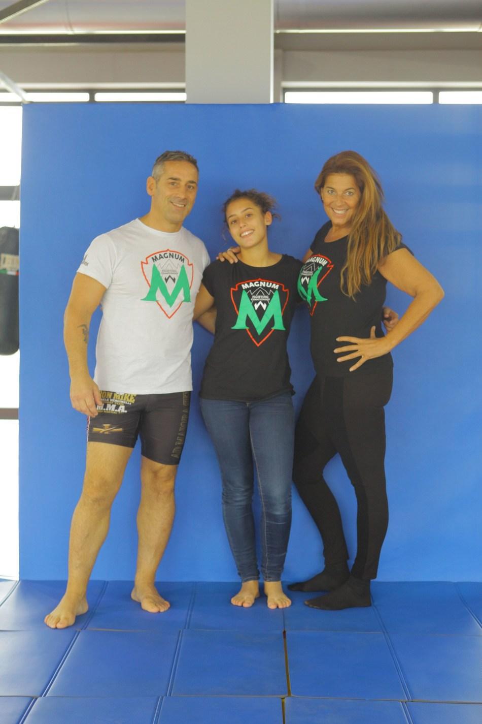 Patrizia Marin, Michele e Michela Verginelli presenting  MAGNUM FC Girl Power (PRNewsfoto/MAGNUM FC)