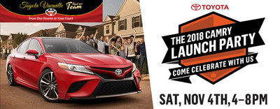 Toyota Vacaville highlights Nov. 4 Launch Party for the 2018 Toyota Camry