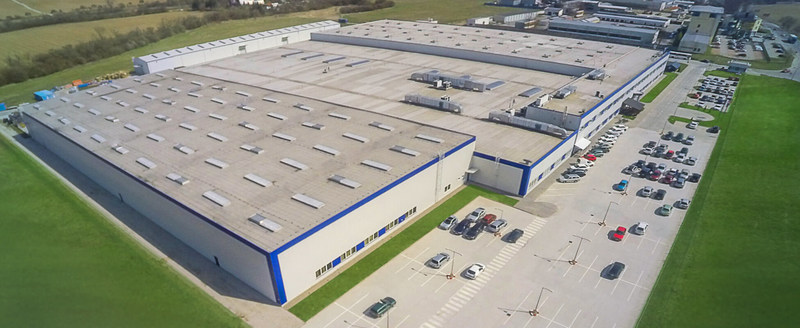 Magna's new mirrors facility in Nove mesto nad Vahom, Slovakia. The company is investing $30 million to refurbish the building and install a new automated paint line that will bring 150 new jobs. (CNW Group/Magna International Inc.)