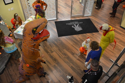 Wounded Warrior Project welcomed costumed kids and their parents (wounded veterans) to their headquarters for a special Halloween event.