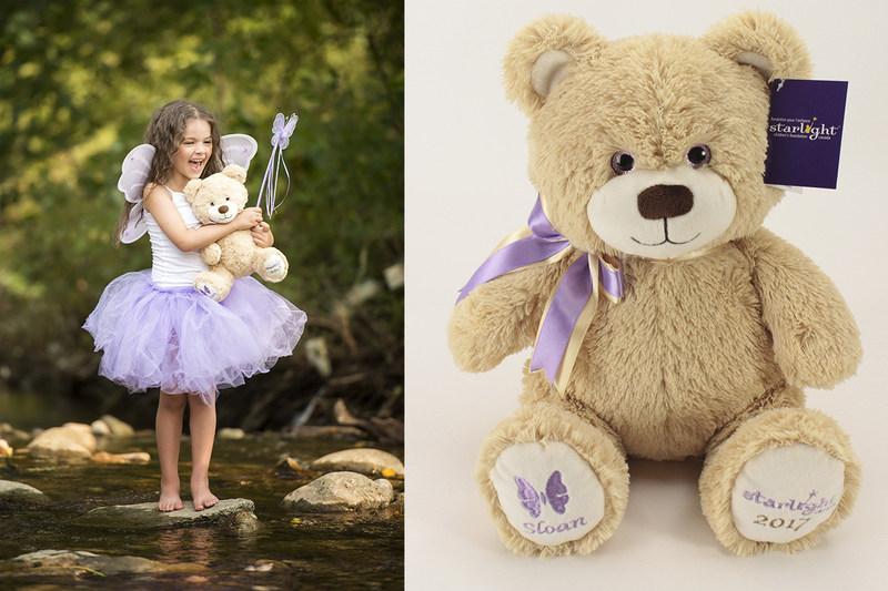 Left: Starlight child Sloan; Right: Starlight Bear Sloan (CNW Group/Starlight Children's Foundation Canada)