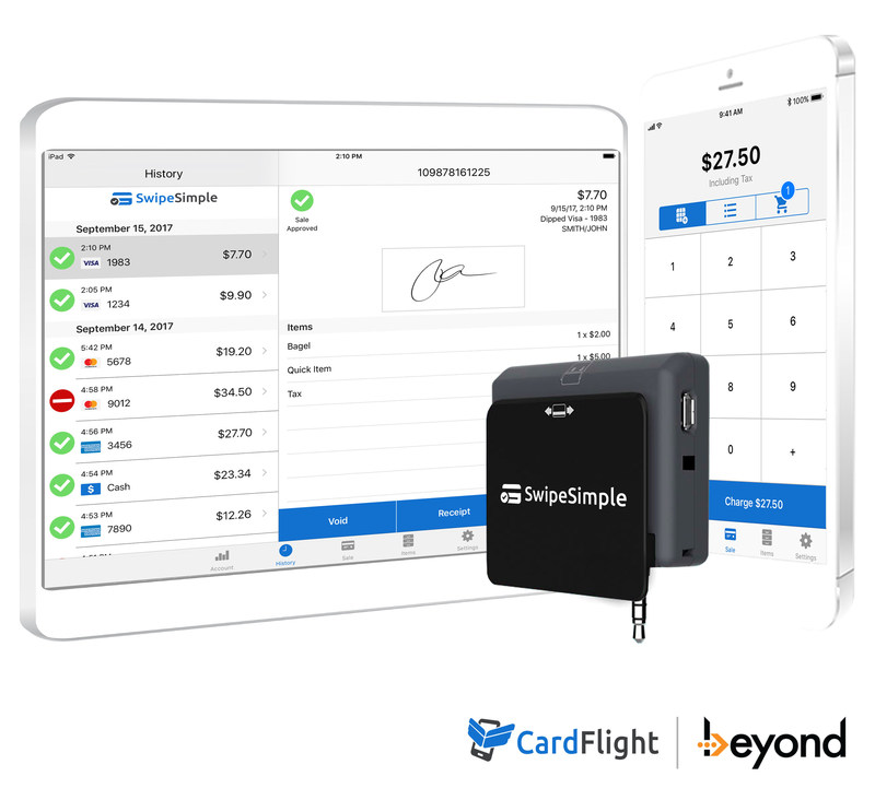 beyond launches swipesimple mobile pointofsale powered