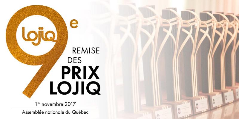 Visuel de présentation de la 9e remise des Prix LOJIQ (Groupe CNW/Les Offices jeunesse internationaux du Québec)