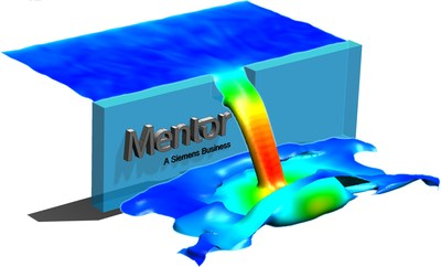 The new FloEFD free surface simulation functionality enables users to simulate surface flows to observe fluid movement.