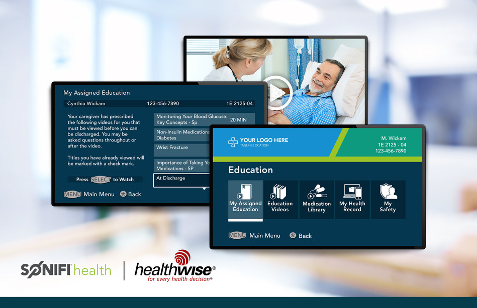 Patient view of Healthwise information via SONIFI Health patient engagement solution.