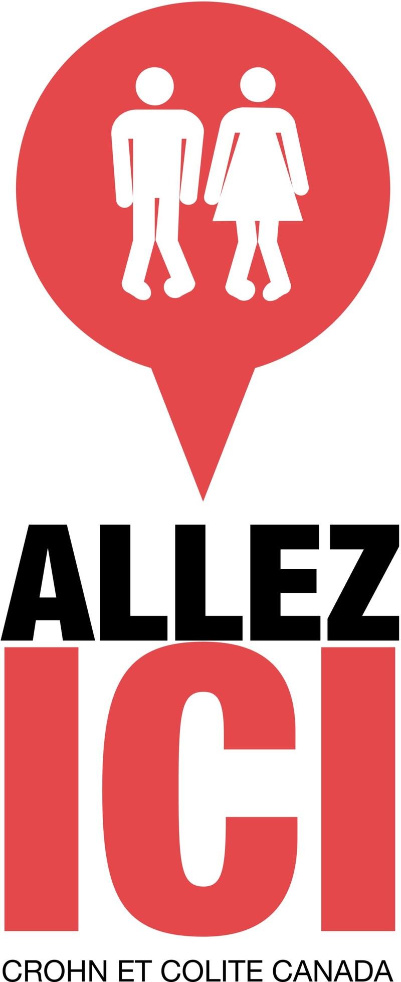 Le programme d'accès aux toilettes ALLEZ ICI, offert à l'échelle nationale, comprend une application mobile (Groupe CNW/Crohn's & Colitis Canada)