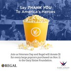 Regal Popcorn Sales to Support the Military on Veterans Day