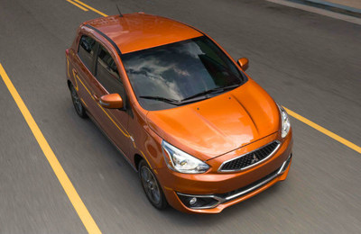 The 2017 Mitsubishi Mirage, pictured here, is one of the models on special at Don Herring Mitsubishi.