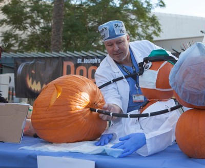Surgeon Ronald Gagliano Does Delicate Halloween Pumpkin Surgery at Dignity Health St. Joseph's Hospital in Phoenix.