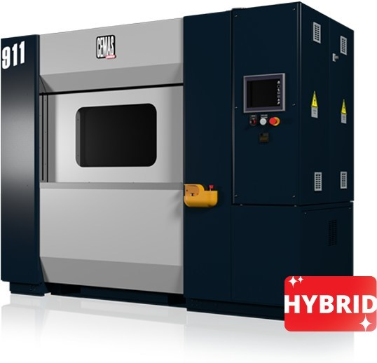 The 911 hybrid vibration welder is the most versatile machine in the lineup. It is available in four versions: standard, high-level, servo-controlled, and infrared.