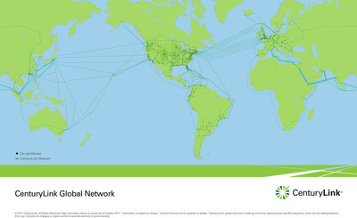 Rede global da CenturyLink (PRNewsfoto/CenturyLink, Inc.)