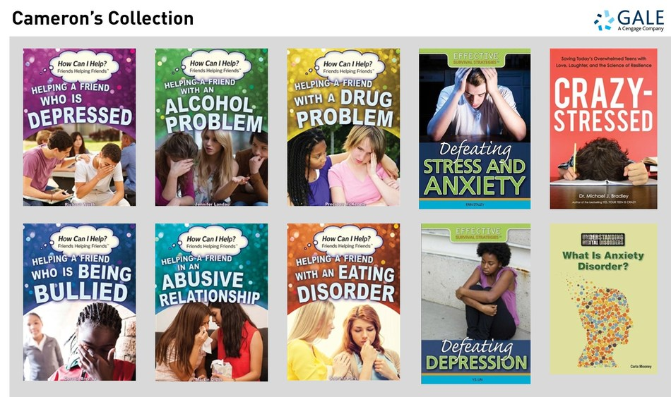 Cameron's Collection provides schools and public libraries with resources and tools to help teens who are battling with depression and anxiety.