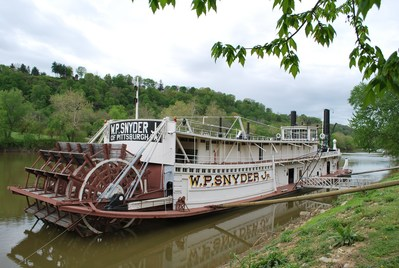 W.P Synder Jr. the last tow boat steam powered stern wheeler in the country on its way to restoration.