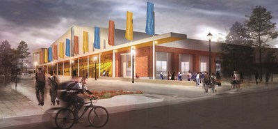 Renderings of the new Rocky Mount Event Center.