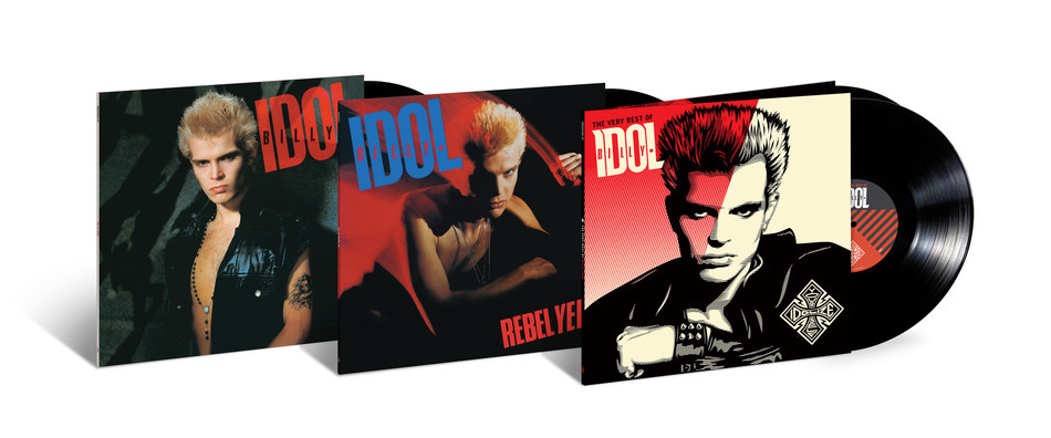 UMe and punk rock icon Billy Idol celebrate several of his best-loved works with newly remastered vinyl reissues of Idol's first two solo LPs, Billy Idol and Rebel Yell, plus the expansive double-LP greatest-hits collection Idolize Yourself: The Very Best of Billy Idol. Each release is available beginning November 3rd on high-quality vinyl with faithfully reproduced iconic original album art.