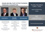 RSVP Now for UMD's DoD Federal Acquisition Reform Panel