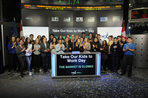 Take Our Kids to Work Day™ Closes the Market (CNW Group/TMX Group Limited)
