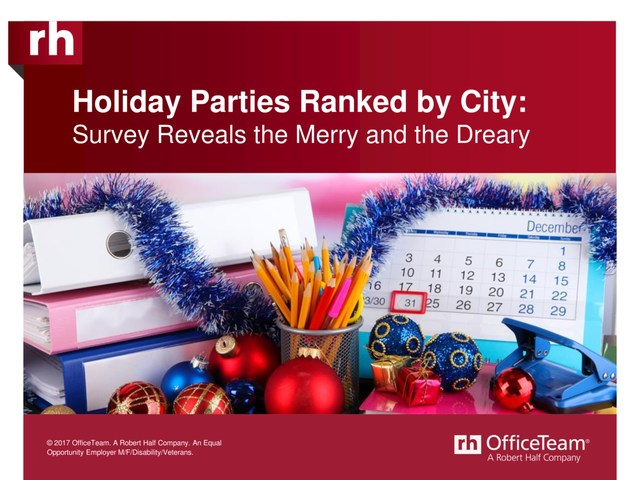 Find out how your city ranks when it come to holiday parties.