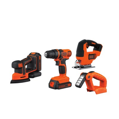 Black + Decker® 20V MAX 4-Pc. Power Tool Kit with BONUS Accessories, $99.99. Save $50 with in-club clipless coupon at BJ's Wholesale Club on Black Friday while supplies last.