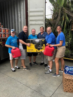 Marriott Vacations Worldwide executives deliver much needed supplies, including generators, to associates at Marriott's Frenchman's Cove in St. Thomas, USVI.