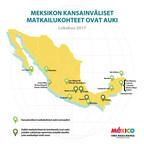 Matkakohteet Meksikossa toivottavat nyt matkailijat tervetulleiksi