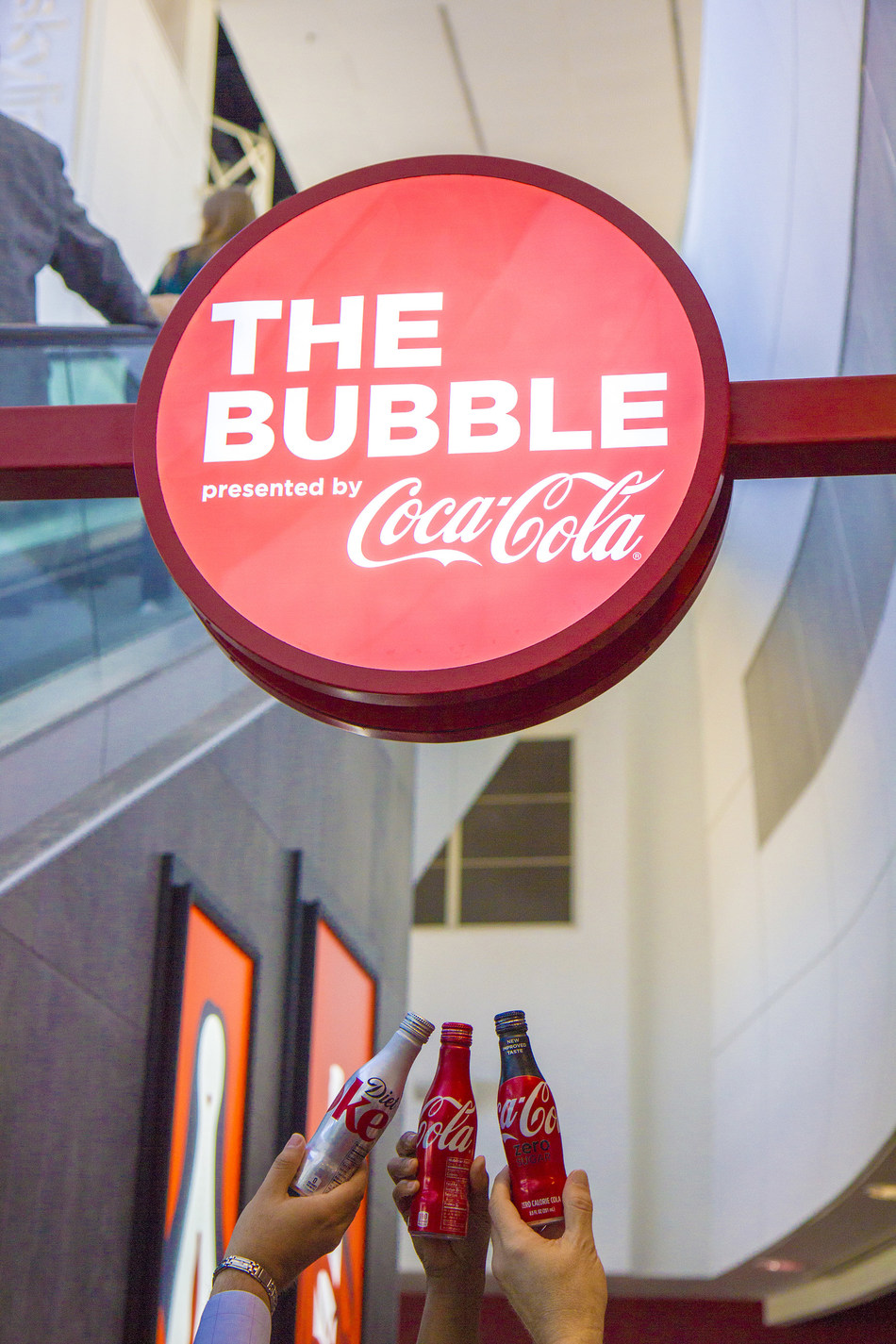 """Dallas Fort Worth International Airport and Coca-Cola® Toast Opening of """"The Bubble Presented by Coca-Cola""""."""