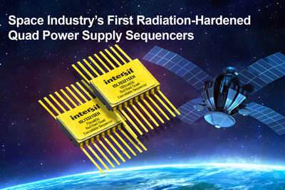 Intersil's ISL70321SEH and ISL73321SEH radiation-hardened quad power supply sequencers are designed to drive point-of load (POL) regulators that power high performance FPGAs and complex, multi-rail power systems in the harsh spaceflight environment.