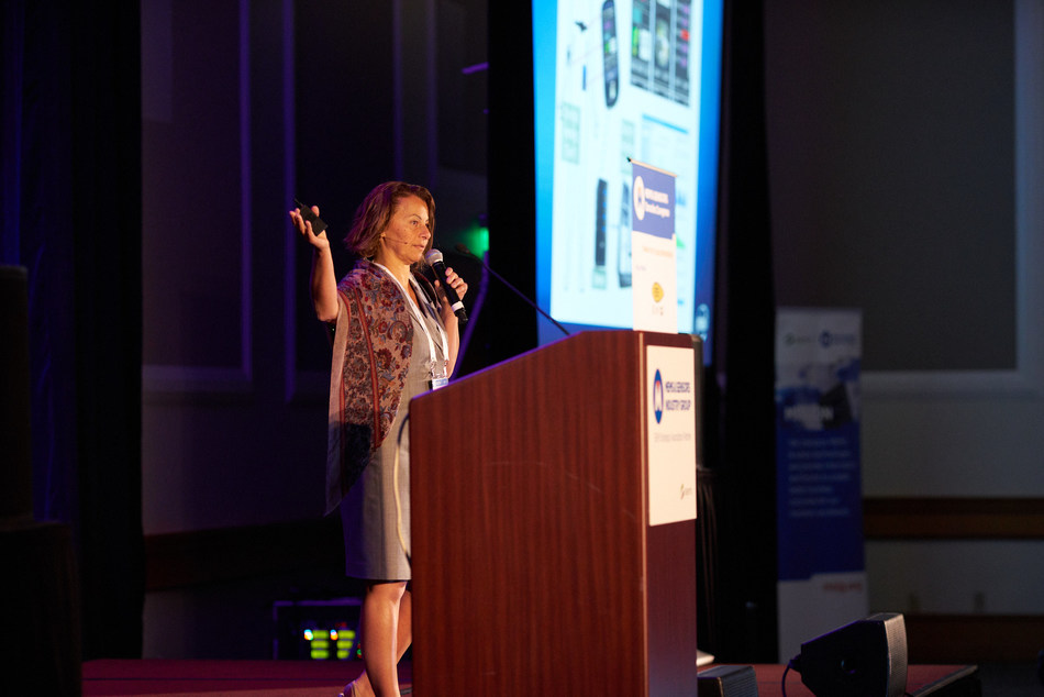 Keynote Speaker Intel's Lama Nachman discussed contextually aware systems. (PRNewsfoto/SEMI | MEMS & Sensors Industry)
