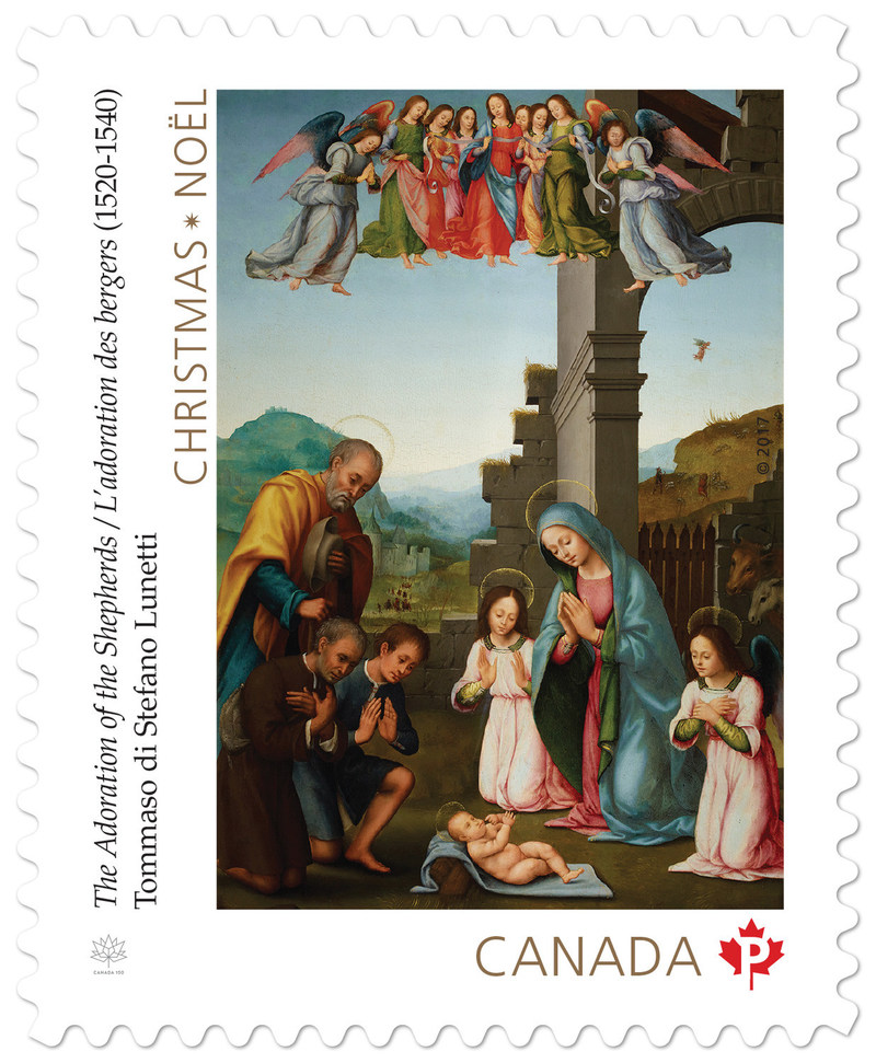 The Adoration of the Shepherds (CNW Group/Canada Post)