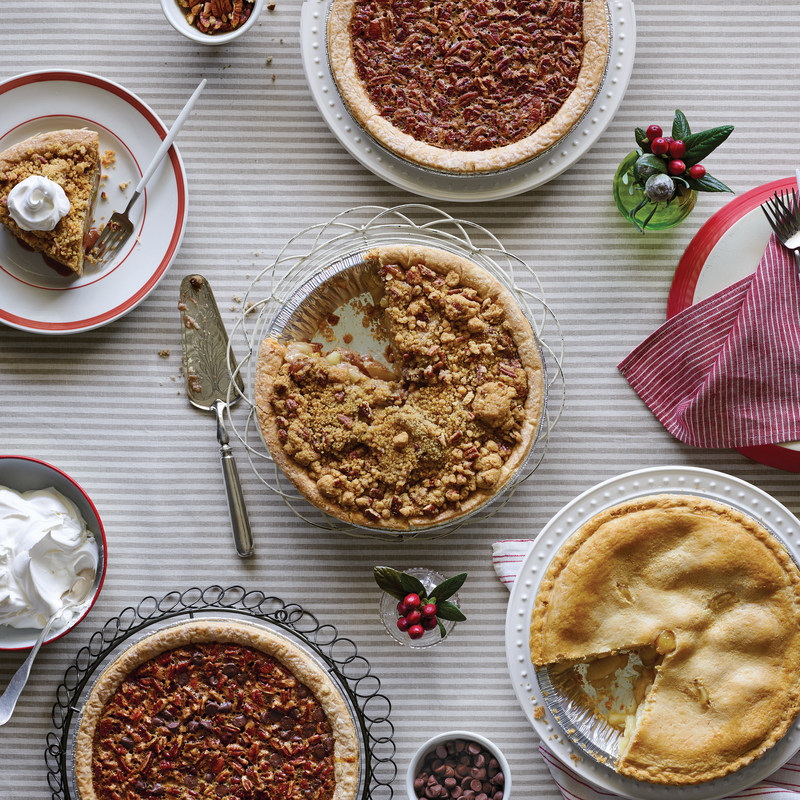 Cracker Barrel will offer fresh baked pies in its retail stores, including Chocolate Pecan, Pecan, Apple Pecan Streusel and All-American Apple Pie (no sugar added) for $8.99 from Oct. 30 through Dec. 24. Pumpkin pies will also be available Nov. 20 through Thanksgiving Day.