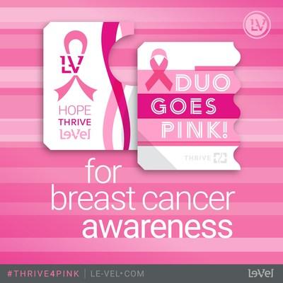 Le-Vel Brands, LLC, el líder mundial en innovación nutricional humana, ha presentado a la National Breast Cancer Foundation (NBCF) una donación de las ganancias obtenidas por su NBCF Derma Fusion Technology (DFT) DUO de edición limitada, con $5 de cada compra en octubre destinados a la NBCF. (PRNewsfoto/Le-Vel Brands)