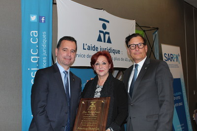 De gauche à droite: Me Yvan Niquette, président de la Commission des services juridiques, l