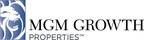MGM Growth Properties LLC Reports Third Quarter Financial Results