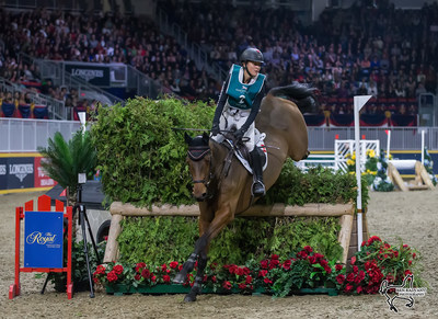 Two-time Canadian Olympian Jessica Phoenix of Cannington, ON, won the $20,000 Horseware Indoor Eventing Challenge on Saturday, November 4, at the Royal Horse Show in Toronto, ON. Photo by Ben Radvanyi Photography (CNW Group/Royal Agricultural Winter Fair)