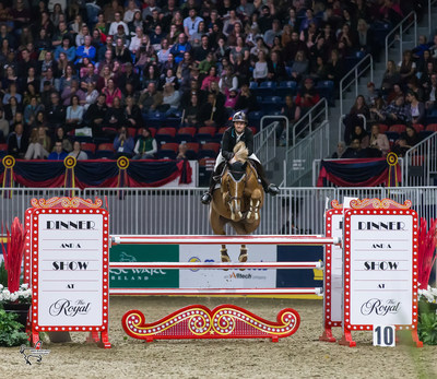 Francoise Lamontagne of St. Eustache, QC, finished second in the 2017 Canadian Show Jumping Championship riding Chanel du Calvaire on Saturday, November 4, at the Royal Horse Show in Toronto, ON. Photo by Ben Radvanyi Photography (CNW Group/Royal Agricultural Winter Fair)