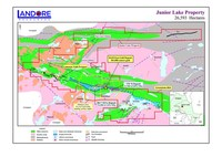 Landore Resources Limited (AIM Ticker: LND.L) - Junior Lake + Lamaune 31 Kilometres of Highly Prospective Greenstone Belt Containing Gold-Nickel-Copper-Cobalt-Platinum-Palladium (CNW Group/Landore Resources Canada Inc.)