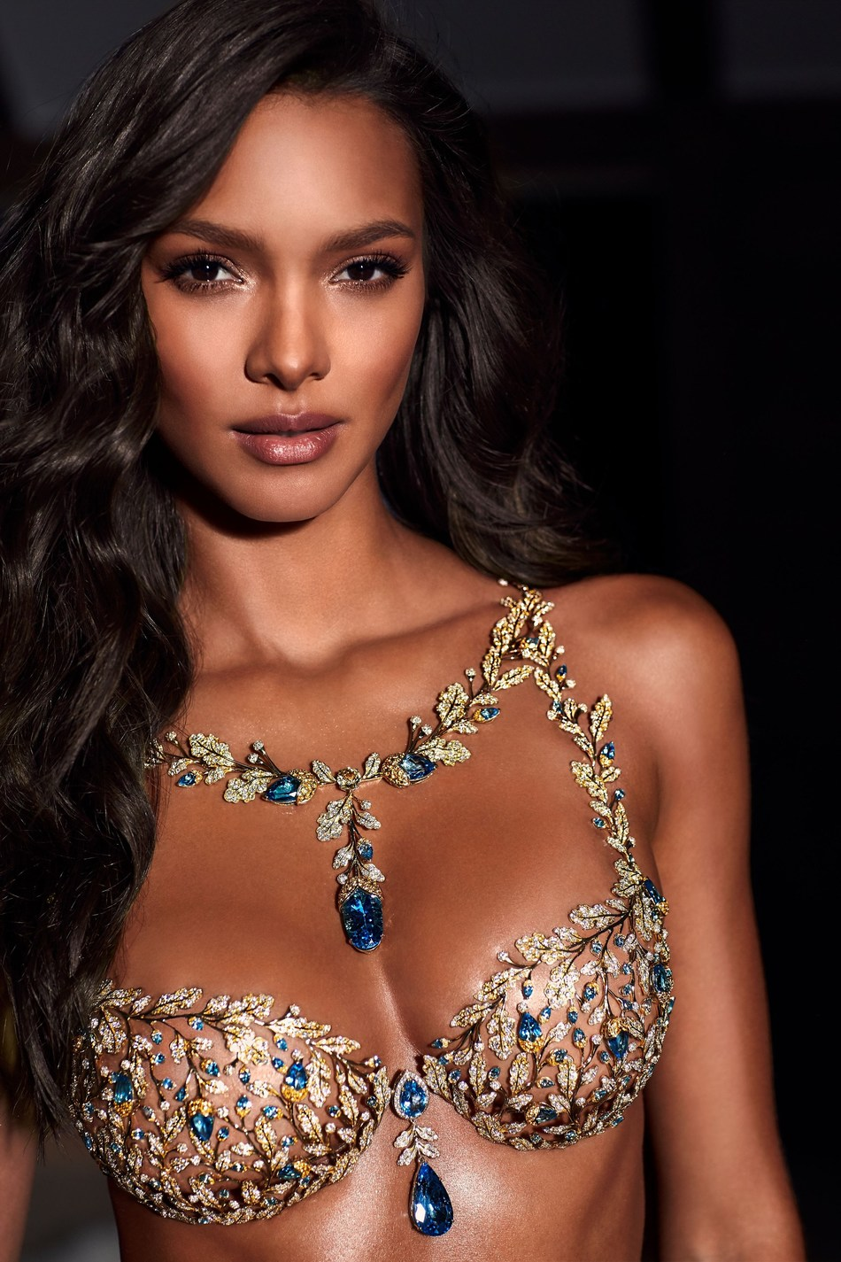 Victoria's Secret Angel Lais Ribeiro in the 2017 Champagne Nights Fantasy Bra by Mouawad (PRNewsfoto/Mouawad)