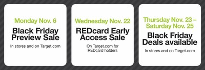 Black Friday savings begin today with Target's popular Preview Sale