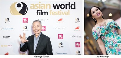 Actors George Takei and Ha Phuong Are Honored at the Asian World Film Festival