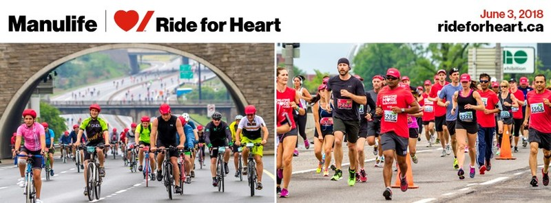 Manulife Announces New Title Sponsorship of Heart & Stroke's Ride for Heart in 2018. The newly branded Manulife Heart & Stroke Ride for Heart will see thousands of Canadians walk, run and cycle in support of heart disease and stroke research. (CNW Group/Manulife Financial Corporation)