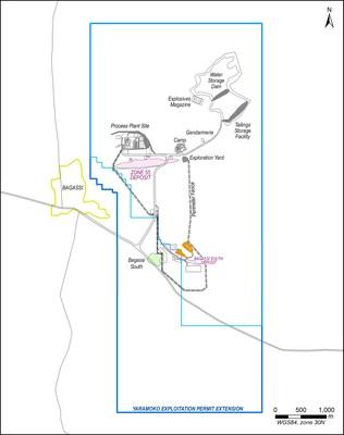 Figure 1: Yaramoko Property Map (CNW Group/Roxgold Inc.)
