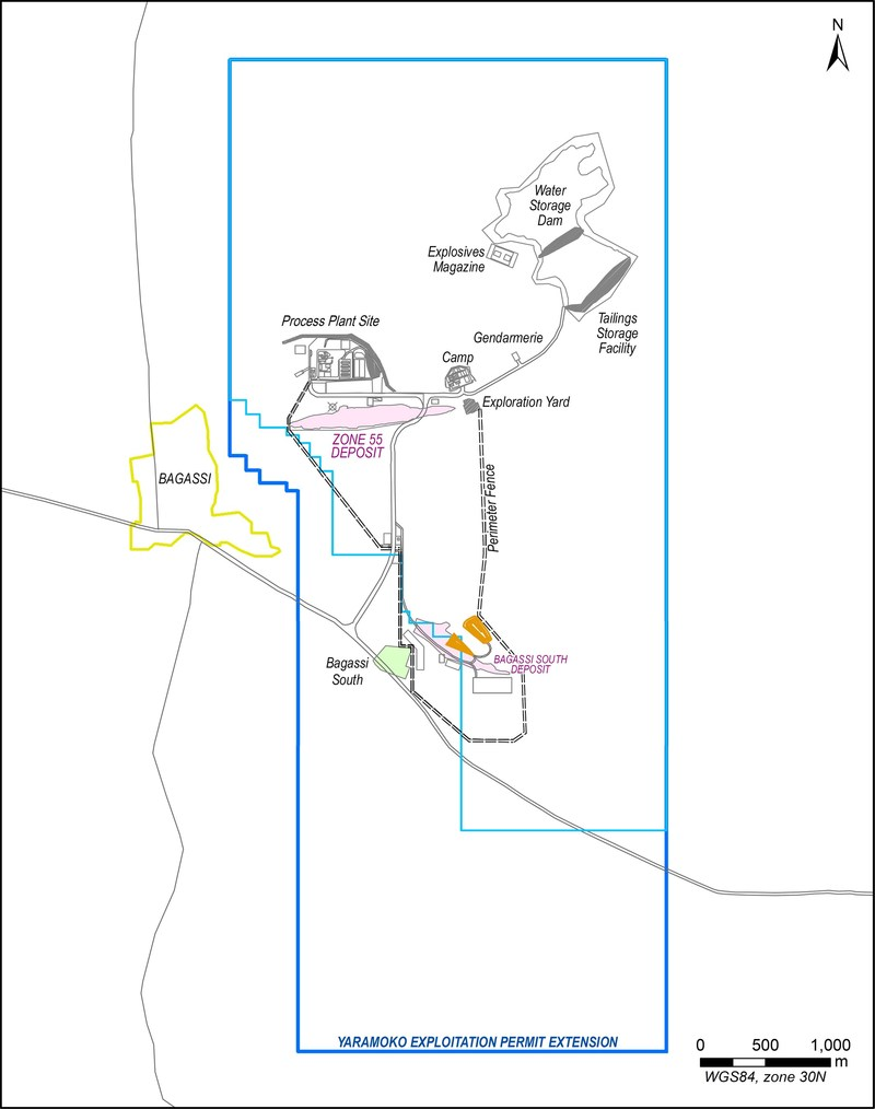 Figure 1: Yaramoko Property Map (CNW Group/Roxgold Inc.)