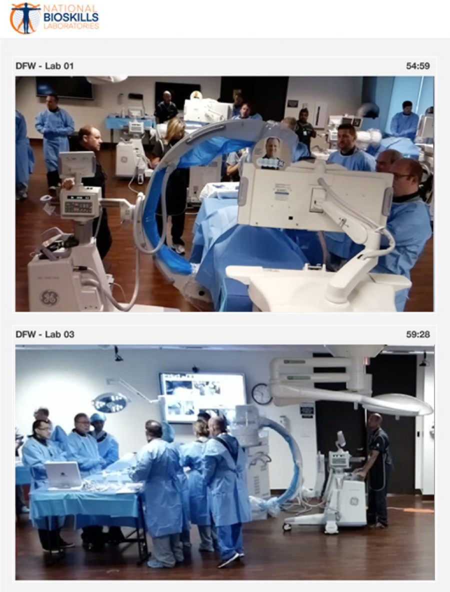 National Bioskills Laboratories live streams training procedure using CrowdOptic's Intelligent Live Streaming technology.