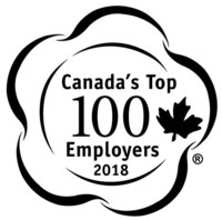 Canada's Top 100 Employers 2018 (CNW Group/Mediacorp Canada Inc.)
