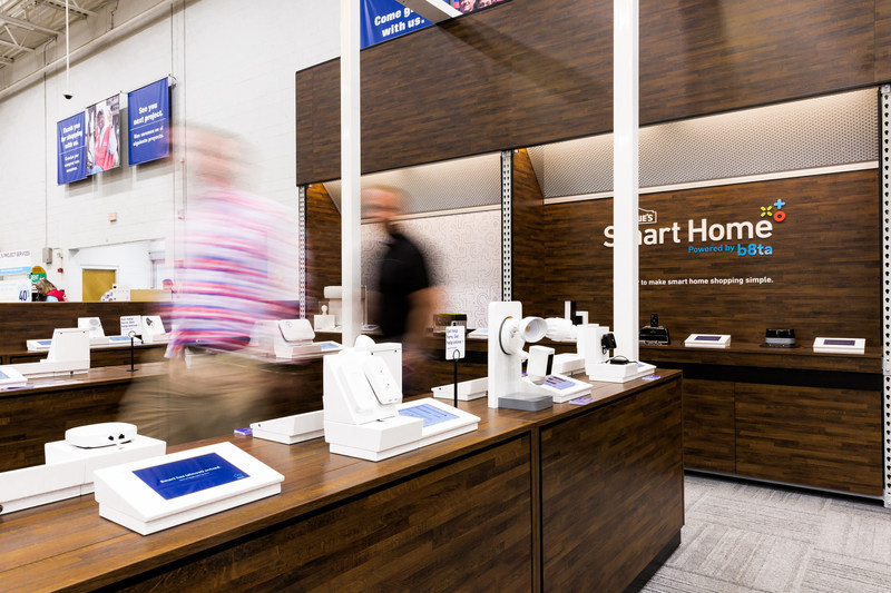The fully immersive format includes a wide array of items ranging from security systems to thermostats, cameras to lighting, speakers and more from brands customers know and trust.