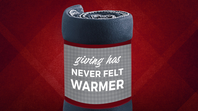 Canadian retailer Urban Barn donated more than 15,000 warm fleece blankets to shelters through their Blanket the Country in Warmth program this year (CNW Group/Urban Barn)