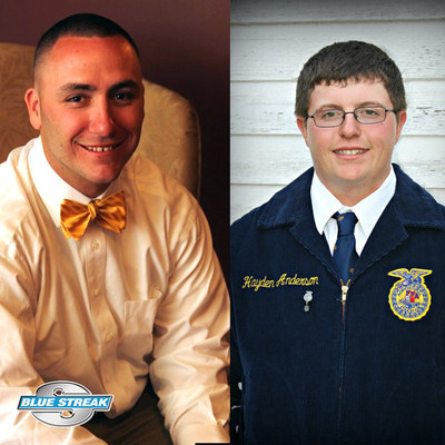 Blue Streak named Daniel McMahon and Hayden Anderson as the recipients of its $5,000 scholarships