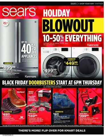 Sears Thanksgiving-Black Friday Cover