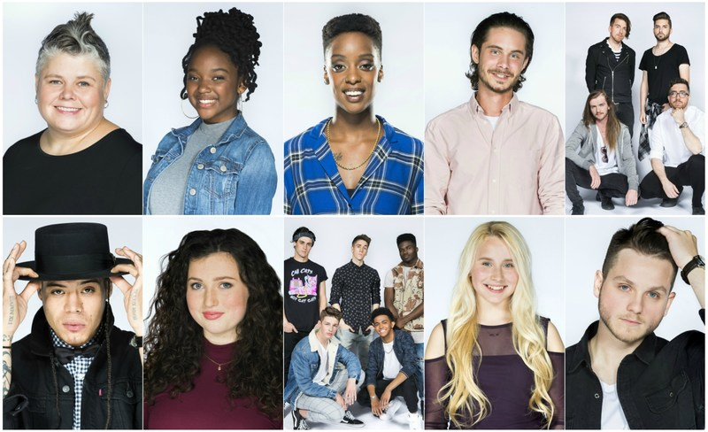 (Top Row L-R: Amy Bishop, Divine Lightbody, Faiza, James Marshall, LITEYEARS) (Second Row L-R: Logan Staats, Nicky MacKenzie The Revel Boys, Vivian Hicks, Zach Lane) (CNW Group/CTV)